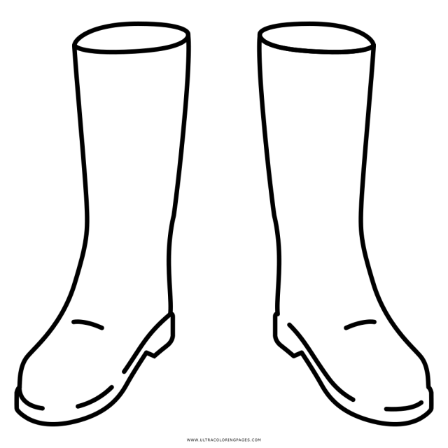 Boots Coloring Page - Ultra Coloring Pages
