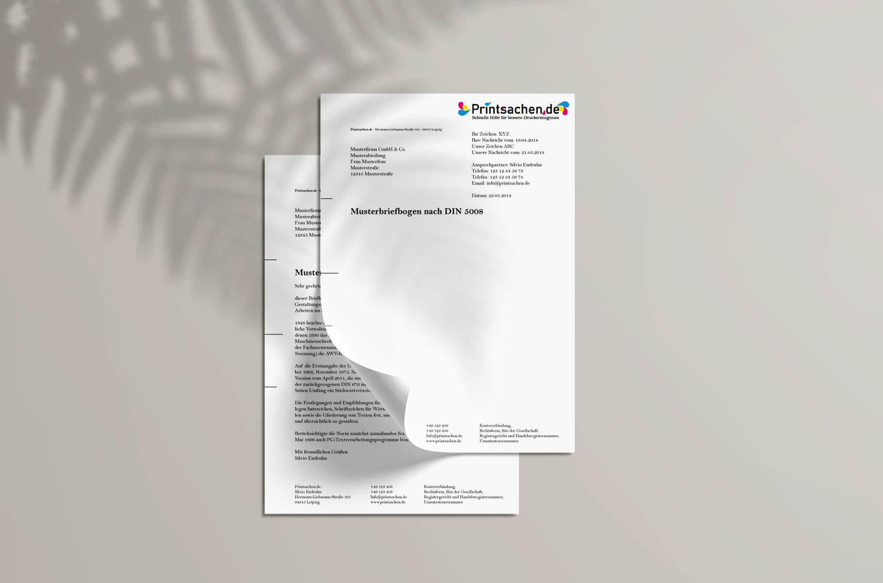 Vorlage Brief Für Fensterumschlag Din A4 - Briefpapier Nach Din Norm 5008 Erstellen Printsachen De