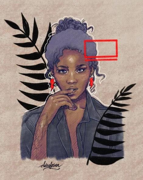 Black woman canggu Bohemian canvas print nature boho print