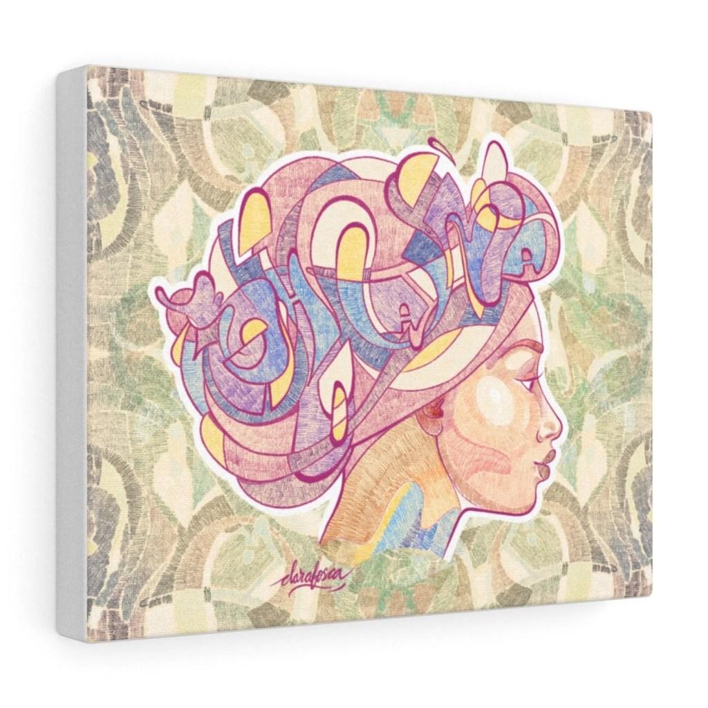 Boho graffiti hair print