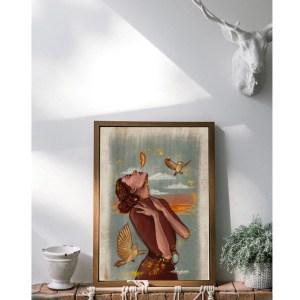 Bird woman soul print