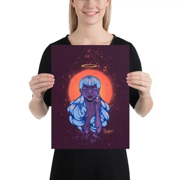 digital art printed poster angel woman sky