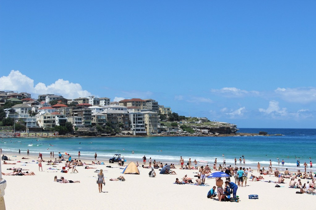 the sea, beach, australia