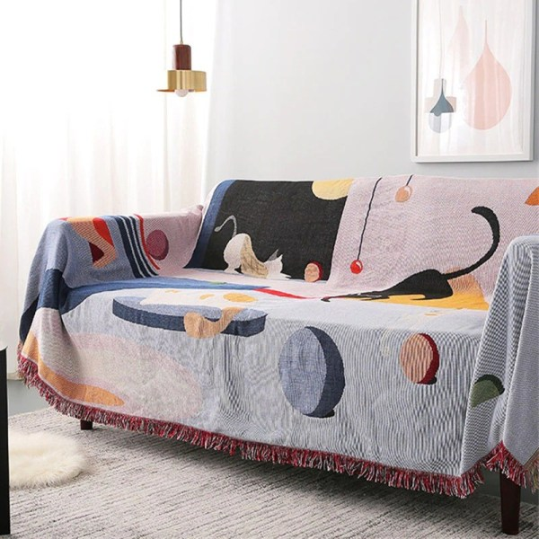 2D cats tapestry