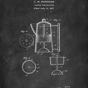 Coffee percolator Downham patent