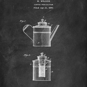 Coffee percolator Wilson patent