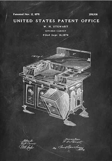 Kitchen cabinet patent