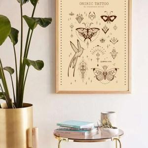 oniric tattoo beige print