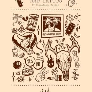 Rad Tattoo beige print