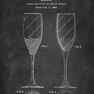 champagne flute closer look