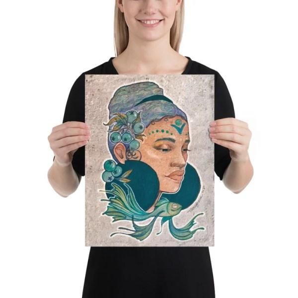 Pisces girl print Ensimismada