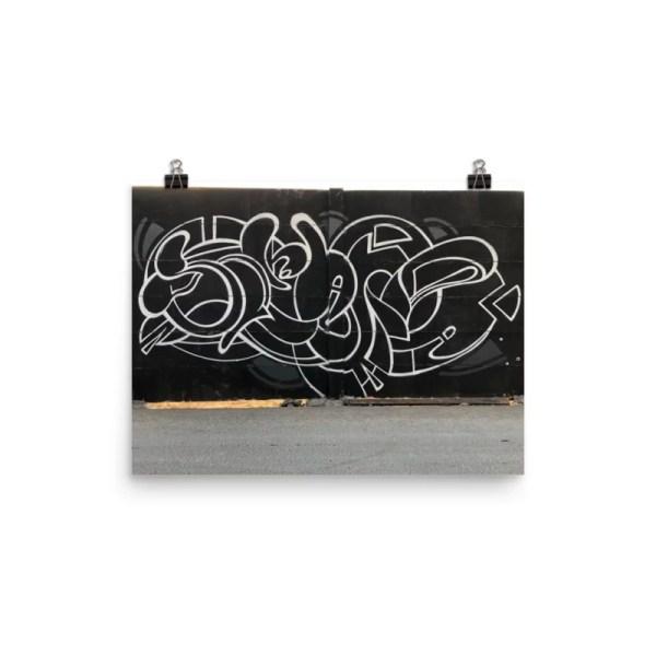 Graffiti letters black and white