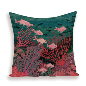 Red reef cushion