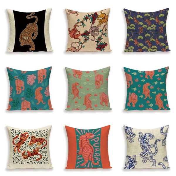 types mockups cushion tigers