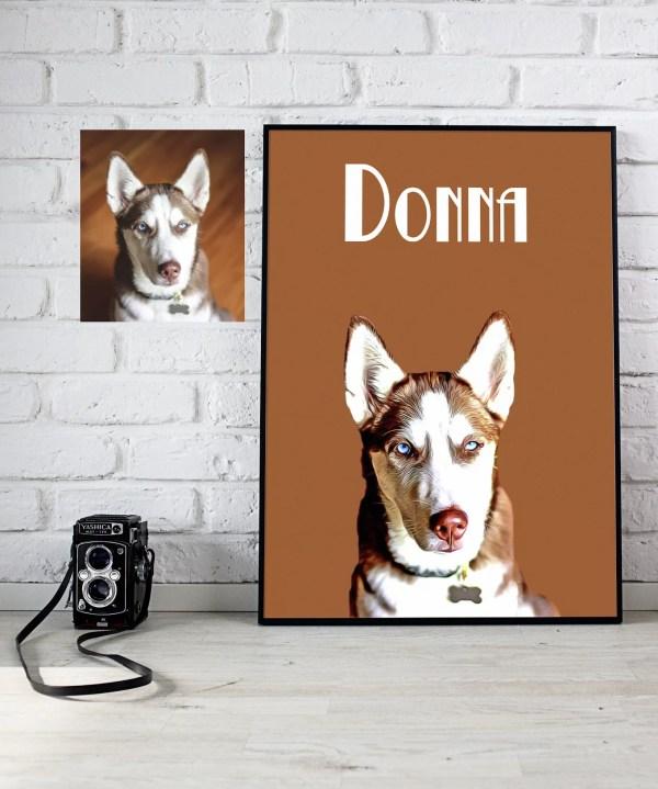 Pet portrait mock up