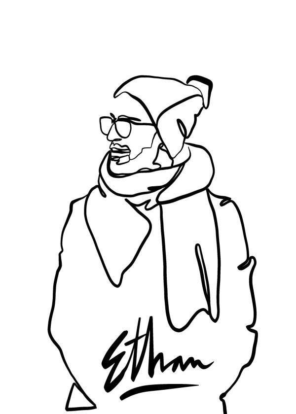 line style portrait