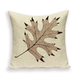 Tree leaf cushion