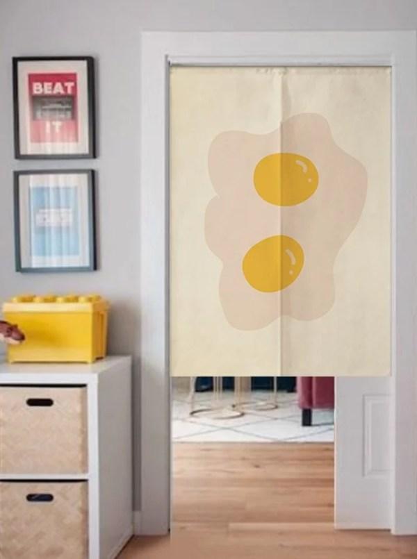 Egg Couple doorway curtain