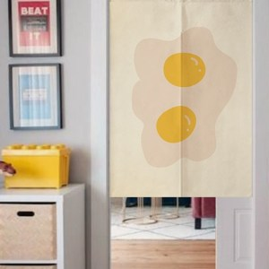 Egg Couple doorway curtain