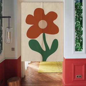 Flower doorway curtain