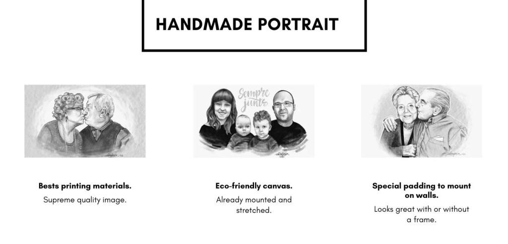Handmade portrait black and white 1