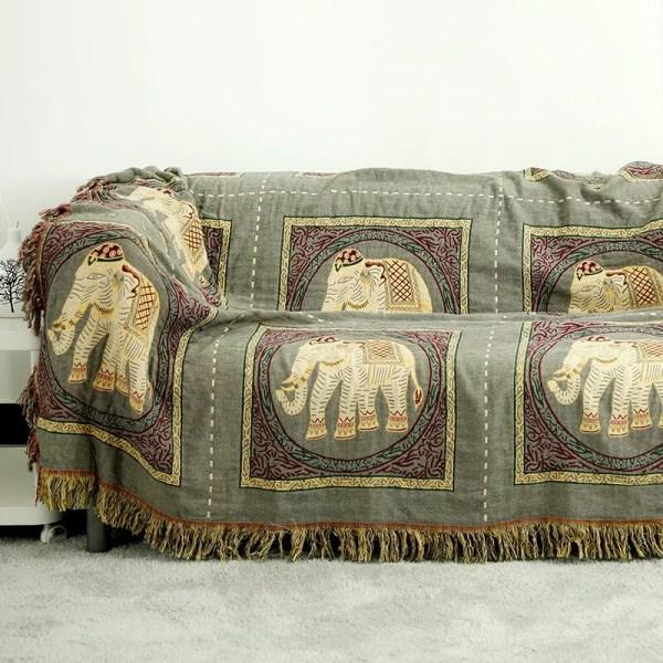 elephant grey blanket