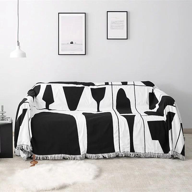 Black & White Glass Tapestry