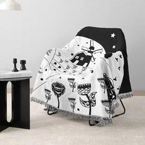 Black & White Dream Forest Tapestry