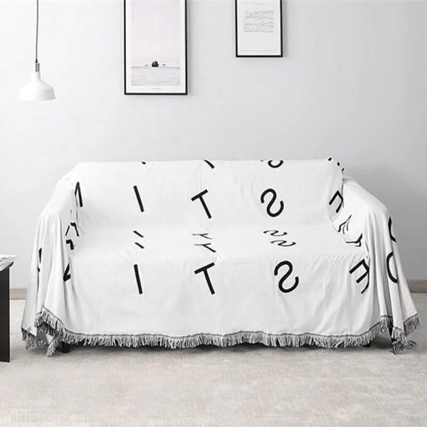 Black & White Letter Tapestry