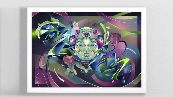 Mengalir digital art collaboration by Zurik & Clarafosca.