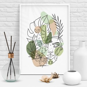 Calm nature leaves illustration
