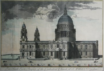 "Harris, 'St.Paul's Cathedral: South East Prospect', 1715. An original copper-engraving. 17"" x 26"". £POA."