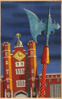 David Lewis: St. James's Palace, 1953. Original chromo-lithograph. 24 x 30 inches. [POSTERp206]