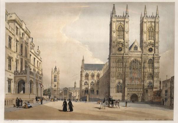 """Thomas Shotter Boys, 'Westminster Abbey', 1842. An original colour lithograph. 13"""" x 18"""". £POA."""