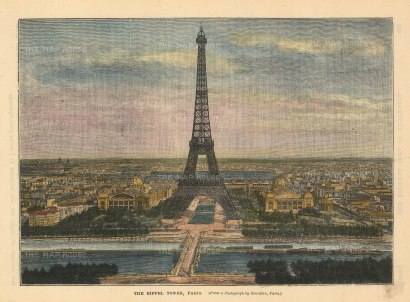 Brown: Paris. Circa 1880. A hand-coloured original antique wood-engraving. 8 x 6 inches. [FRp1628]