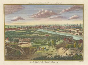 Middleton: Paris. 1778. A hand-coloured original antique copper-engraving. 12 x 7 inches. [FRp1638]