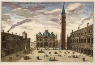 Merian: Venice, c. 1640. Hand coloured antique copper engraving. 13 x 9 inches. [ITp1704]