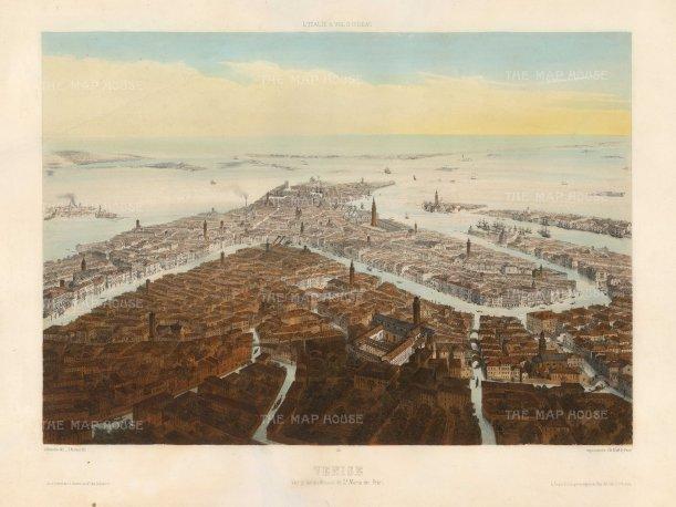Lemercier: Venice. Hand-coloured lithograph, 1850. 13 x 18 inches. [ITp2202]