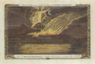 Millar: Mount Vesuvius, Naples. Hand-coloured copper engraving, 1770. 7 x 11 inches. [ITp2210]