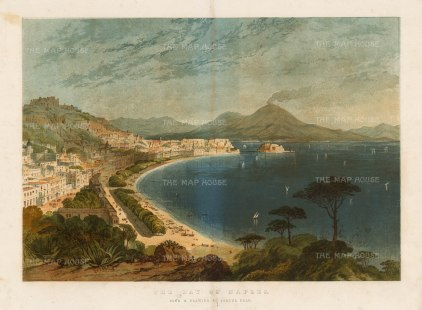 Illustrated London News: Naples, 1860. Antique original chromo-lithograph, 18 x 15 inches. [ITp2239]