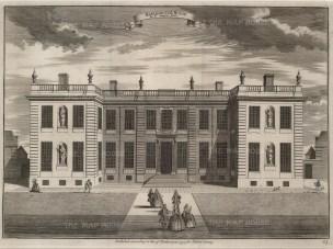 "John Stow, 'Marlborough House', 1754. An original black and white copper-engraving. 14"" x 18"". £POA."