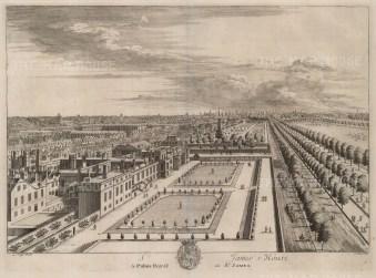 "Kip, 'St. James's Palace', 1715. An original black and white copper-engraving. 15"" x 19"". £POA."