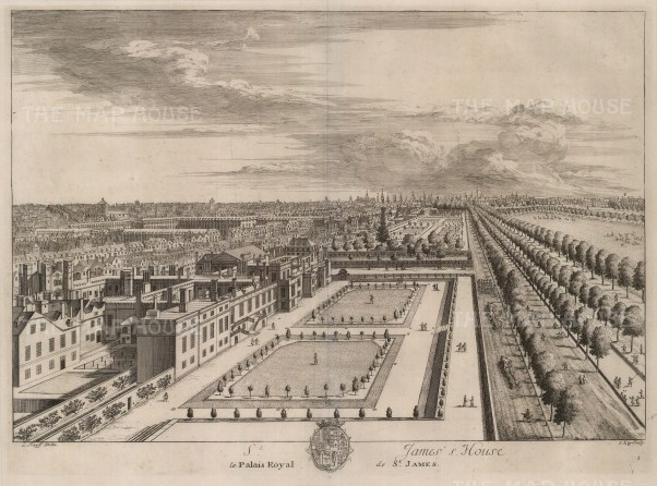 "Kip, 'St. James's Palace', 1715. An original black and white copper-engraving. 15"" x 19"". £POA."