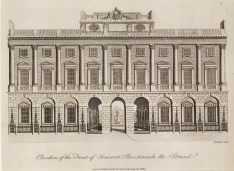 "Wilkes, 'Somerset House, Strand Elevation', 1798. An original black and white copper-engraving. 8"" x 10"". £POA."