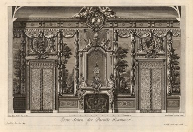 "Paulus Decker, Baroque Wall Decoration, Parade Bedroom, 1711. 14"" x 17"". £POA."