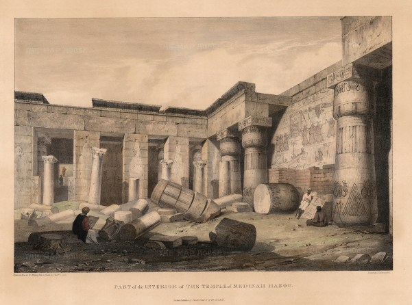 Capt. Head: Egypt. 1833. An original colour antique lithograph. 11 x 16 inches. [EGYp386]