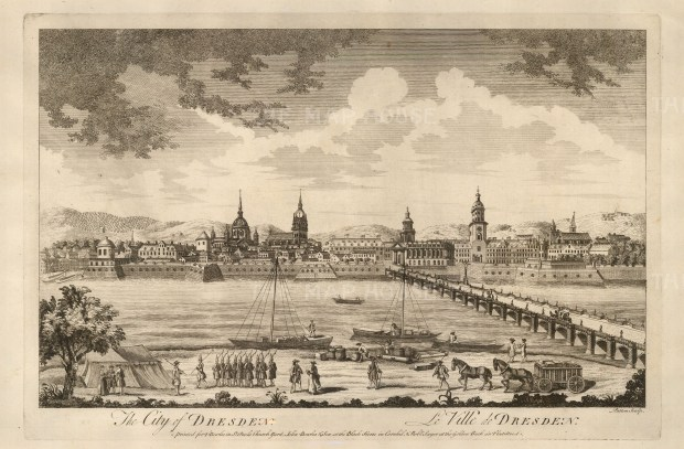 "Sayer, 'The City of Dresden', 1774. An original black and white copper engraving. 12"" x 18"". £POA."