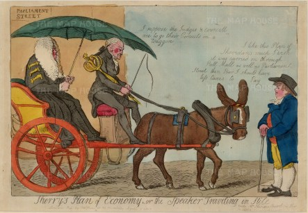 "S.W. Fores, 'Sherry's Plan of Economy', 1830. An original colour etching. 10"" x 14. £POA."