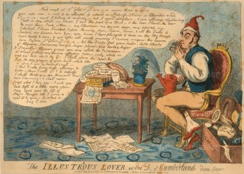 """SW Fores, 'The Illustrious Lover, or, The D__ of Cumberland Done Over', 1804. An etching in original colour. 9"""" x 13"""". £POA."""