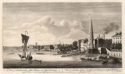 "John Boydell, A View of London from the Thames, 1752. An original black and white copper engraving. 11"" x 17"". £POA"
